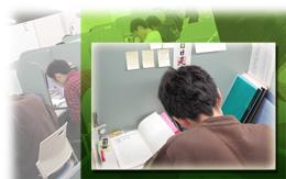 自習室は遅くまで開いていて緊張感がある場所なので集中して勉強に取り組めます。